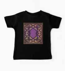 Purple and Gold Vines Book Baby Tee