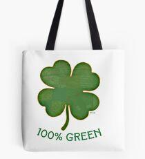 Irish Shamrock - 100% Green Tote Bag