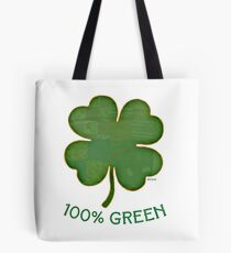 Irish Shamrock - 100% Green Tote Bag
