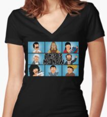 The Gene Bunch Women's Fitted V-Neck T-Shirt