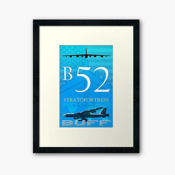 B52 Buff Framed Art Print