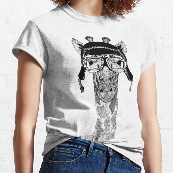 Cool giraffe, cute animal graphic, giraffe animal, giraffe lover, giraffe graphic, giraffe biker helmet Classic T-Shirt
