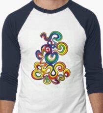 Psychedelic Smoke Men's Baseball ¾ T-Shirt