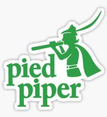 green pied piper Sticker