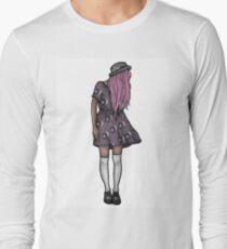 Dark Hipster Girl Long Sleeve T-Shirt
