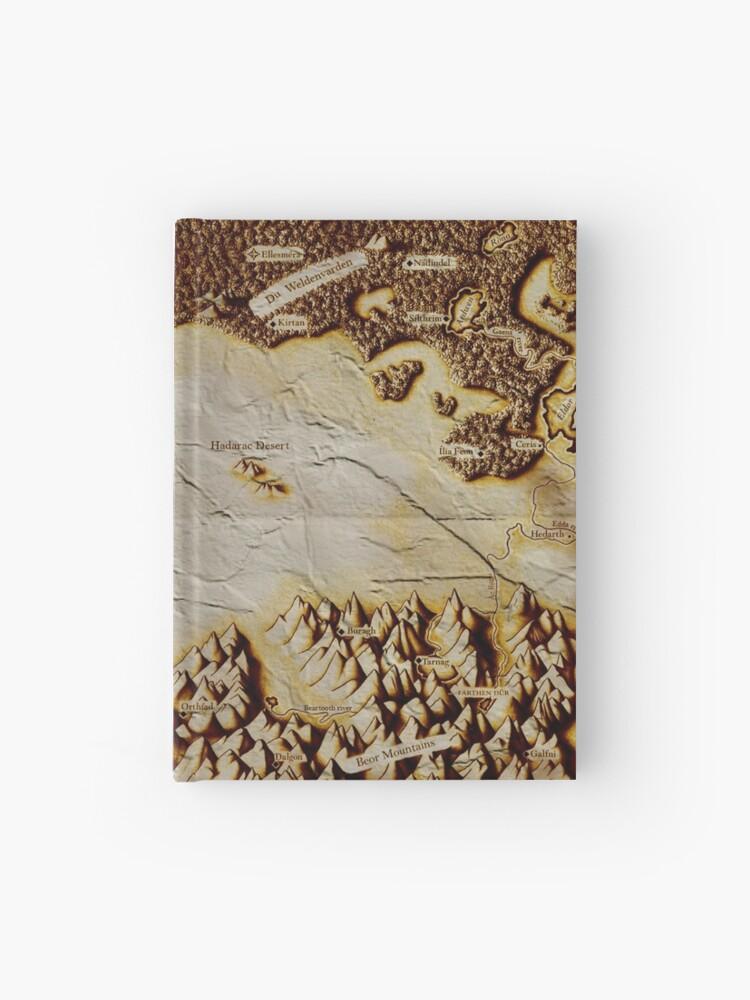 Eragon Karte.Alte Gefaltete Karte Von Alagaësia Notizbuch