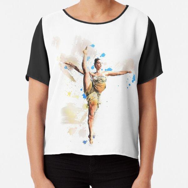 Aerial Dance watercolor ballet girl Chiffon Top