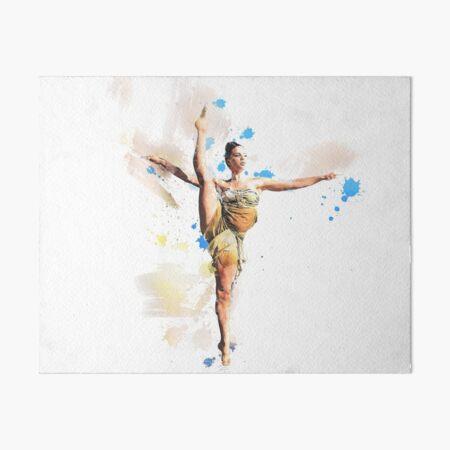 Aerial Dance watercolor ballet girl Art Board Print
