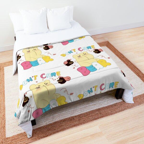 Cute Anime Don't Care Bear Comforter