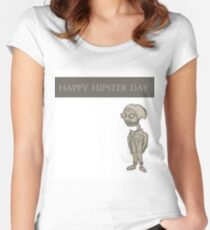 Happy Hipster Day Women's Fitted Scoop T-Shirt