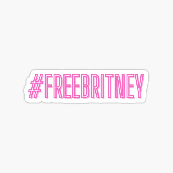 #FreeBritney Sticker - Neon Pink Sticker