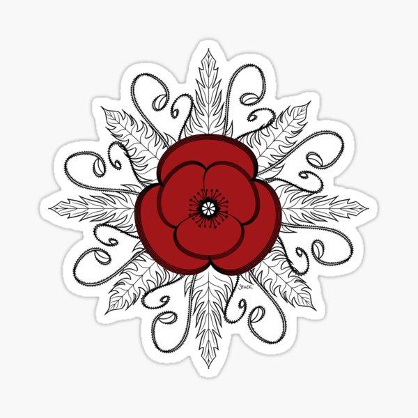 Red ANZAC Poppy Sticker