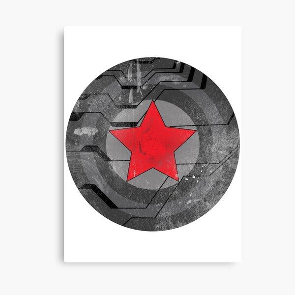 Winter Solider Shield Canvas Print