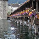 Flowered Bridge - Switzerland - On Tour Europe by chijude