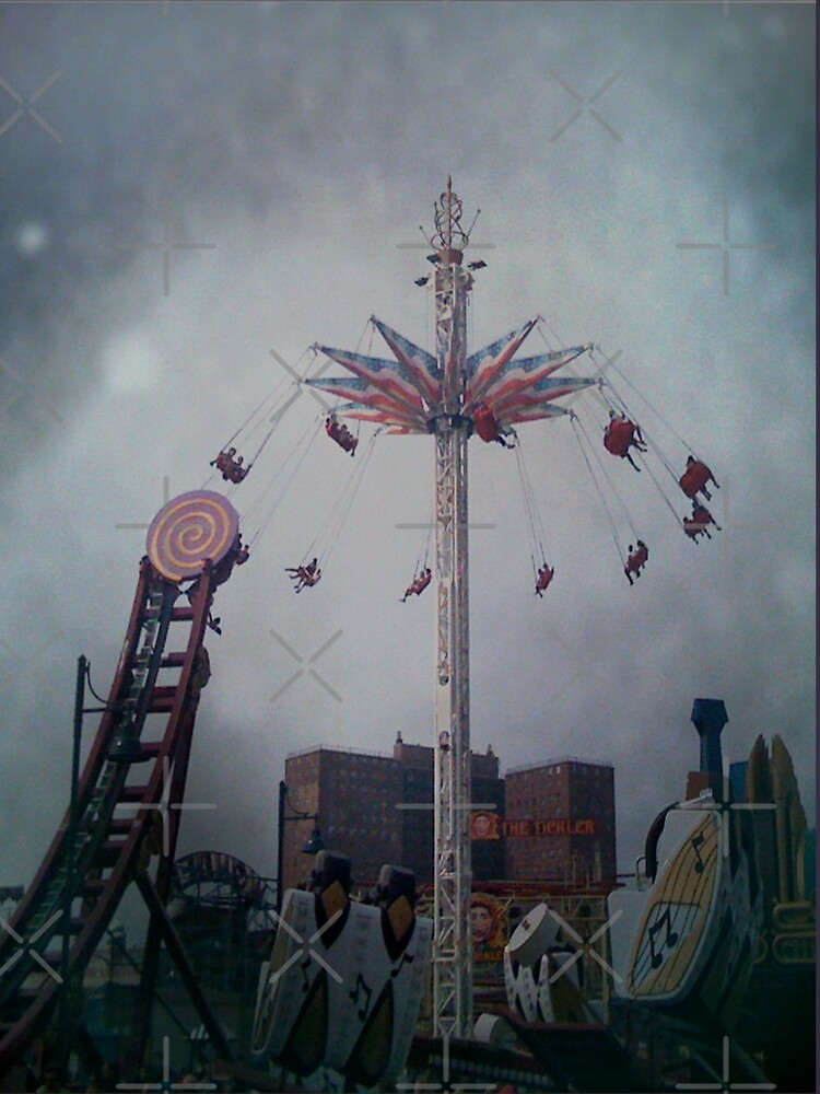 Top of the World - Coney Island Brooklyn Art Photo - Brooklyn Lover Gift by OneDayArt