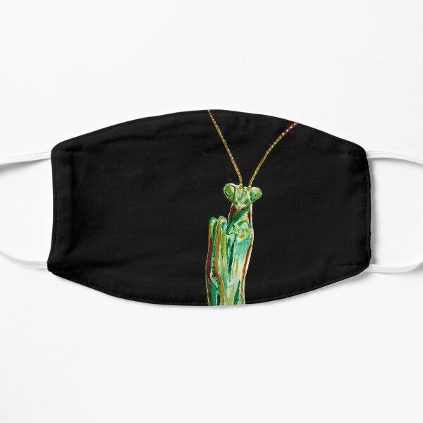 Praying Mantis on Black Flat Mask