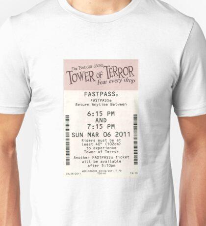 Tower of Terror Fastpass Unisex T-Shirt