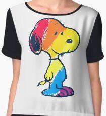 Snoopy Colorful Women's Chiffon Top