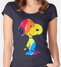 Snoopy Colorful Women's Fitted Scoop T-Shirt