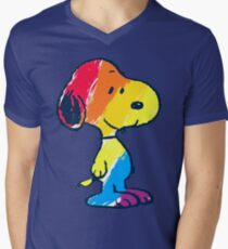 Snoopy Colorful Men's V-Neck T-Shirt