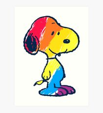 Snoopy Colorful Art Print