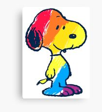 Snoopy Colorful Canvas Print