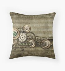 Steampunk Overload 2 Throw Pillow