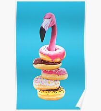 A Famished Flamingo Poster