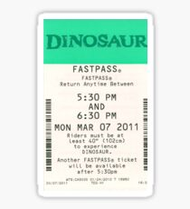 Dinosaur Fastpass Sticker