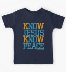 Know Jesus Know Peace No Jesus No Peace Kids Tee