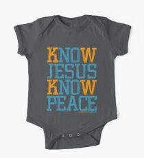 Know Jesus Know Peace No Jesus No Peace One Piece - Short Sleeve