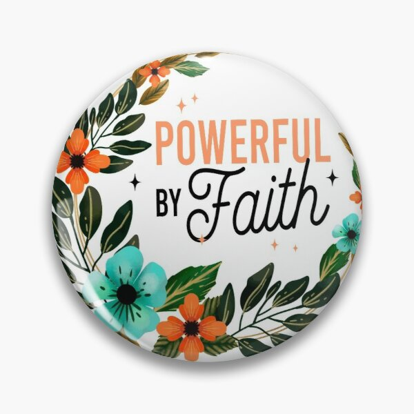 JW Convention 2021 - POWERFUL BY FAITH Pin