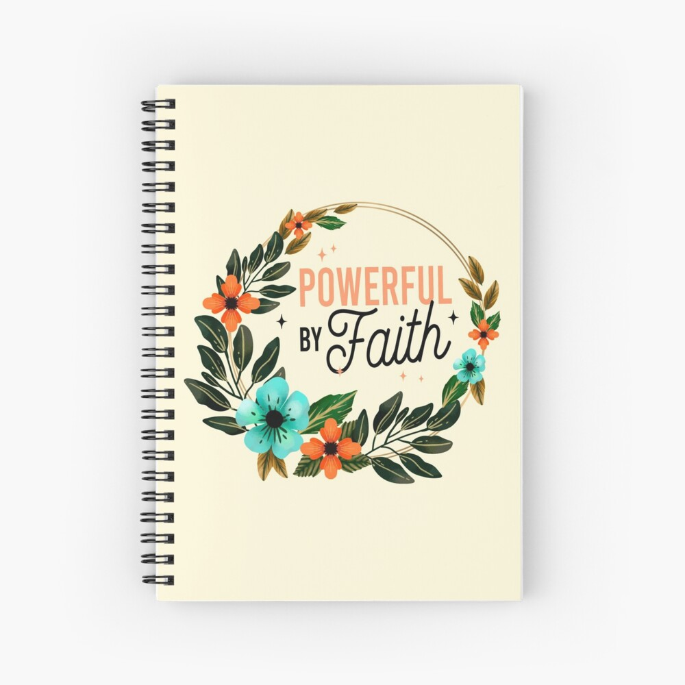 JW Convention 2021 - POWERFUL BY FAITH Spiral Notebook