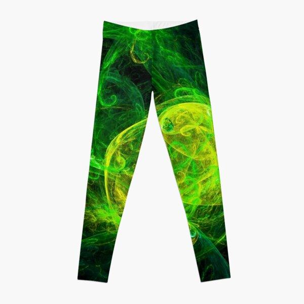 Alien Gold Green Leggings