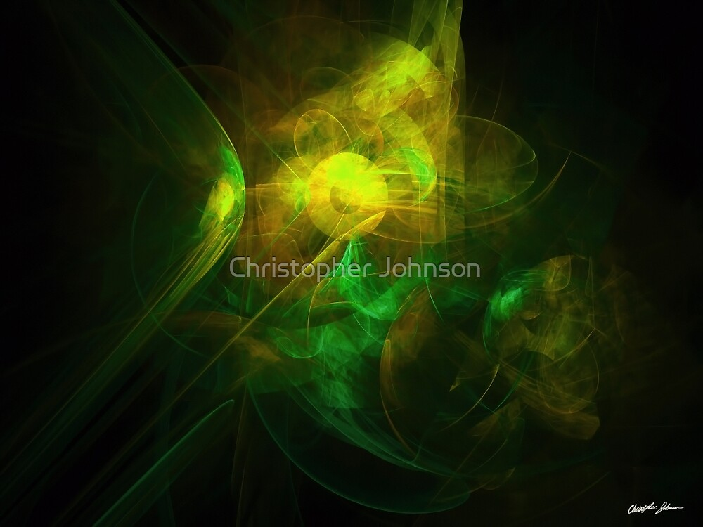 Alien Code Yellow Green by Christopher Johnson