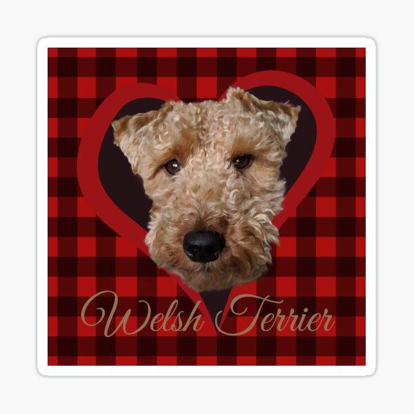 Welsh Terrier in Buffalo Plaid Sticker