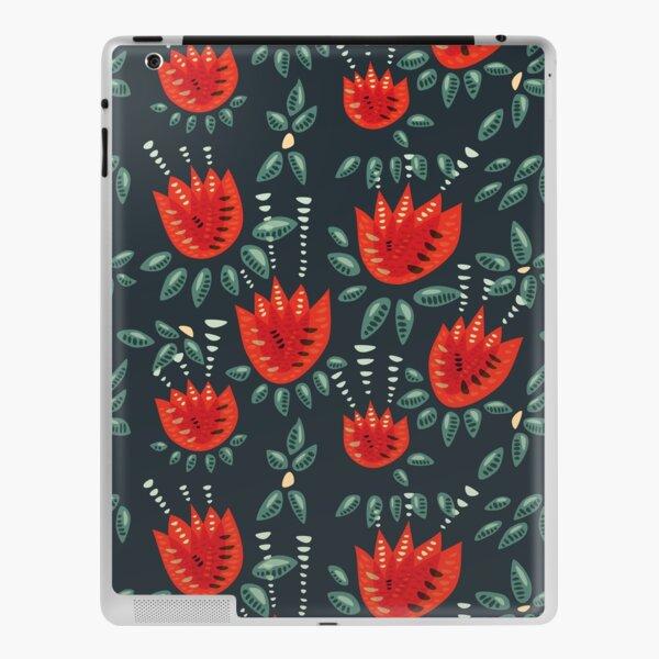 Beautiful Red Abstract Tulip Pattern iPad Skin