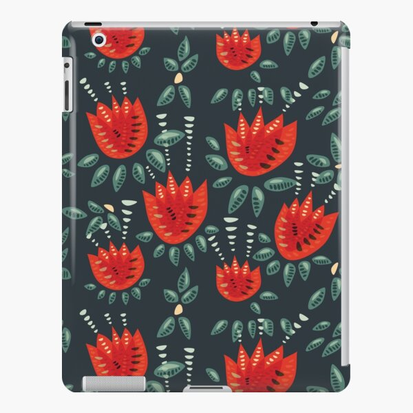 Beautiful Red Abstract Tulip Pattern iPad Snap Case