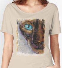 Siamese Cat Painting Women's Relaxed Fit T-Shirt