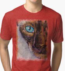 Siamese Cat Painting Tri-blend T-Shirt