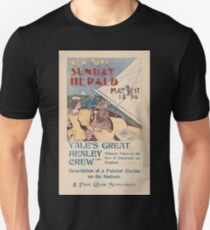 Artist Posters New York Sunday Herald May 31st 1896 Yale's great henley crew 0917 T-Shirt