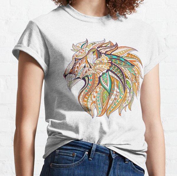 Lion Mandala Tribal, Lion Mandala, Tribal Lion, Lion King Mandala Classic T-Shirt