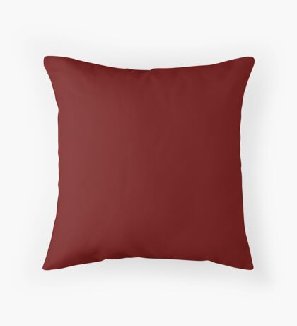 Burgundy Red Solid Color Decor Throw Pillow