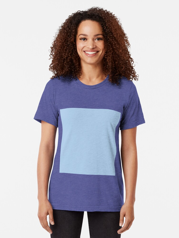 Alternate view of Baby Blue Solid Color Decor Tri-blend T-Shirt
