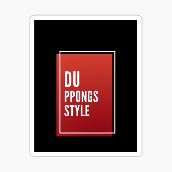 DUPPONGs .Redbox STYLE Sticker
