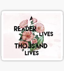 A Reader  Sticker
