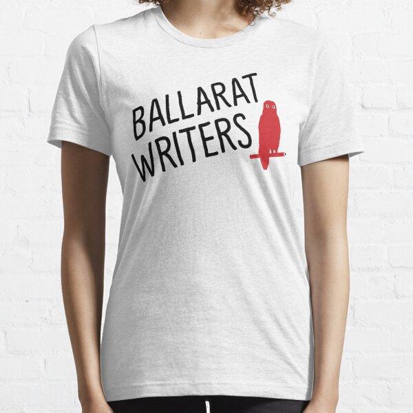 Ballarat Writers Shirt (White/Grey) Essential T-Shirt