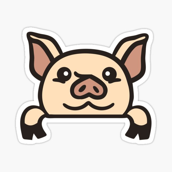 peeking pig  Sticker