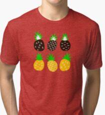 Black pineapple Tri-blend T-Shirt