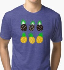 Black pineapple Tri-blend T-Shirt